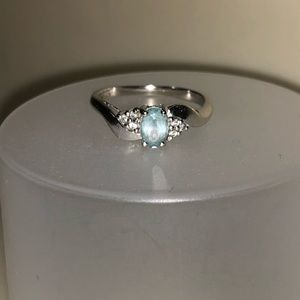 Blue Topaz 10k Ring